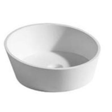 Sanitary Wares Modern Design White Bathroom Marble Basin (YL-2001)