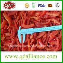 Tiras de pimiento rojo congeladas IQF
