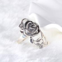 Ретро стиль большой цветок розы одноцветный кольцо