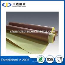 Taizhou fornecedor PTFE Teflon material revestido fita de fibra de vidro