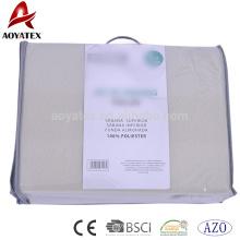 Sistema cabido barato de la hoja del paño grueso y suave del polar tamaño doble del color sólido 130gsm, sistema de la hoja de cama