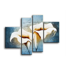 4 Panels Hauptdekoration moderne Tulpe Leinwand Malerei
