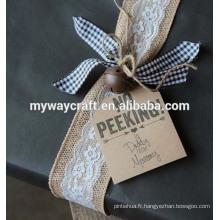 Art artisanat animal et lettre motif mignon kraft papier étiquettes cadeau set mini cartes de voeux