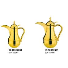 Cafetière à vide en acier inoxydable avec verre doublé (style arabe)