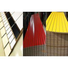 Nuevo diseño de melamina ranurado MDF Board / Slatwall