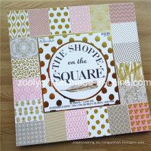 """Personalizar la impresión 12 x 12 """"papel de libro de recuerdos de hoja de oro / papel decorativo DIY Scrapbooking Pad"""
