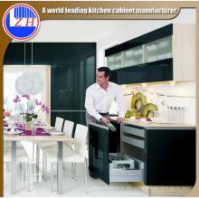 Muebles de acrílico negro del gabinete de cocina del MDF (modificado para requisitos particulares)
