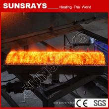 Brûleur à gaz infrarouge à long terme en fibre de métal