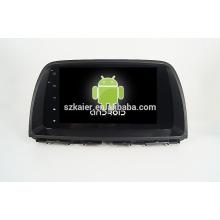 Quad core! Dvd do carro com link espelho / DVR / TPMS / OBD2 para 9 polegada tela cheia de toque quad core 4.4 Android sistema MAZDA CX-5 2015
