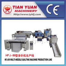 Production continue automatique de courtepointe de haute production