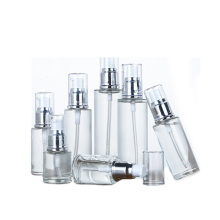 clear 20ml to 100ml Glass Lotion pump Bottle for Travel Cosmetics Sample Storage