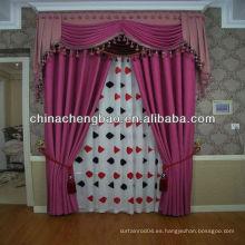 Barata púrpura moda lino cortina diamante reticulado patrón
