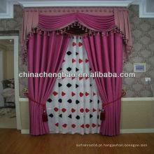 Barato roxo moda linho cortina diamante lattice padrão
