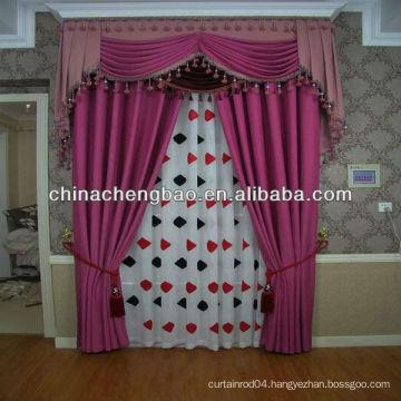 cheap purple fashion linen curtain diamond lattice pattern