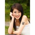 Black waterproof body temporary single color tattoo sticker