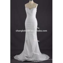 Simple Off-the-shoulder Long Mermaid Chiffon Wedding Dress