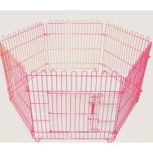 Pet Собаки Щенка Клетка Манеж 8 Панельный Металлический Забор Ботанического Сада Рамка Черный