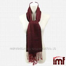 Классический плед красный шарф