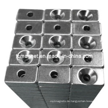 Block Magnete mit Counter Sunk Hole