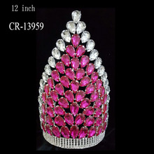 Beauty Large Queen Rhinestone Pageant Crown Tiara