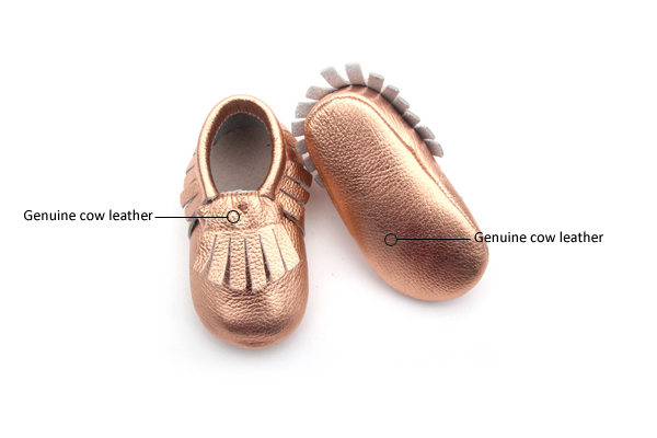 Rose Gold Moccasin Shoes Wholesale