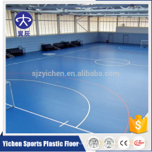 PVC Sportplatzbodenbelag, rutschfeste Sport Futsal Gericht Vinyl Bodenbelag Roll