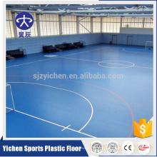 Piso de quadra de esportes de PVC, rolo de piso de vinil de quadra de futsal de esporte antiderrapante