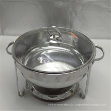 Prato aquecendo-se por atrito moderno de aço inoxidável dos aquecedores de alimento do bufete da placa dobro de 8L grandes