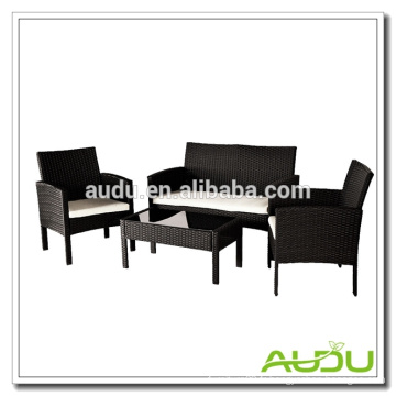 Audu 4 Pieces SImple Rattan Garden Country Furniture