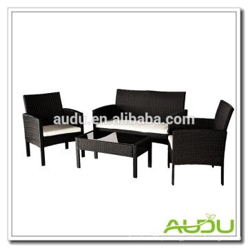 Audu 4 Pieces SImple Rattan Garden Country Furniture