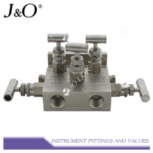 Múltiple de válvula de acero inoxidable de 5 vías