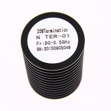 Rango de frecuencia DC 2.5GHz N terminación del conector del cable coaxial de redondez hembra