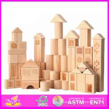 2014 New Kids Wooden Building Block, Popular Children Play Building Block, Hot Sale Preschool Building Block Set Toy W13e023