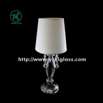 Single Glass Candle Holder for Table Ware with Lamp (10*29.5)