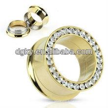 Bouchon en or plaqué or 14 carats