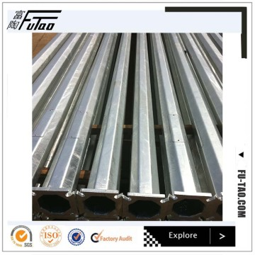 9M Galvanized Metal Octagonal Pole