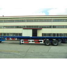 Top for CIMC Flatbed Trailer 40' Two Axle Flatbed with Boggie Suspension Semi-Trailer supply to Somalia Factory