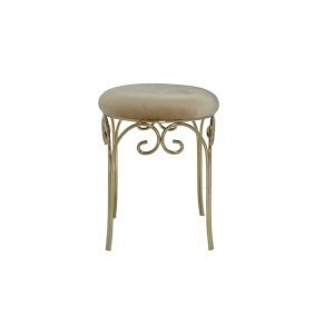English-style stainless steel round chair