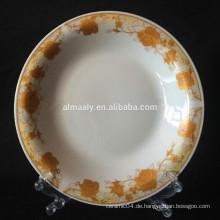 Indonesien Design Porzellan Omega-Platte für Essen oder Suppe
