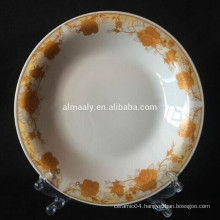 Indonesia design porcelain omega plate for food or soup