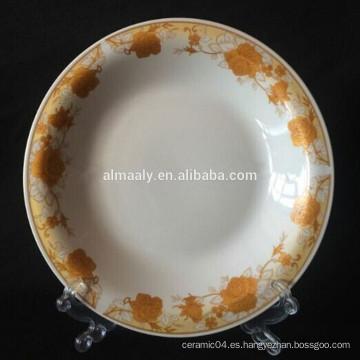 Placa omega de porcelana de diseño de Indonesia para comida o sopa