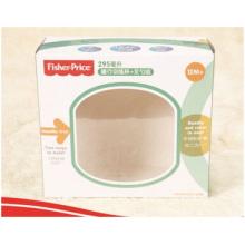 Kundenspezifische Papierbox für Lebensmittelverpackungen mit transparentem Fenster.
