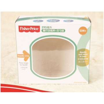 Customized Paper Box for Food Packaging with Transparent Window.