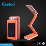 32leds solar panels rechargeable retractable table lamp