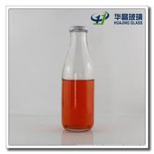 750ml Milk Glass Bottle with Metal Screw Lid