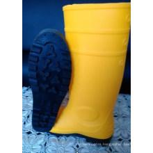 Men′s Rain Boots with Yellow Dfsb1601