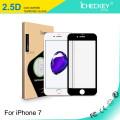 Protecteur d'écran en verre trempé 2.5D pour Apple iPhone7, sérigraphie complète