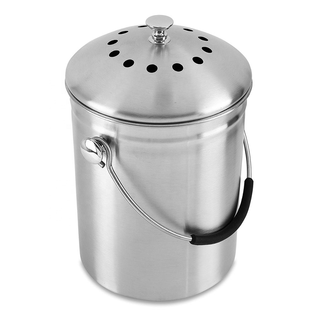 Satin Polishing Compost Pail