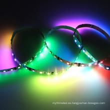 Multi color led luz decorativa 5050 smd direccionable dmx rgb 12 voltios llevó tiras de luz