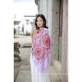 Écharpe en laine élégante brodée musulmane pour femmes
